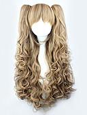 halpa Vatsatanssiasut-Lolita Peruukit Keltainen / Vaaleahiuksisuus Cosplay Kihara Lolita Peruukit 28 inch Cosplay-Peruukit Yhtenäinen Peruukki Halloween Peruukit