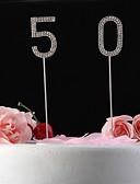 رخيصةأون زينة الكيك-كعكة توبر كلاسيكيClassic Theme كريستال الذكرى السنوية عيد ميلاد مع حجر كريم حقيبة البلي