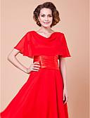 cheap Wedding Wraps-Short Sleeves Chiffon Party Evening Wedding  Wraps Capelets
