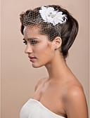 cheap Party Headpieces-Blusher Veils / Headwear / Birdcage Veils with Floral 1pc Special Occasion Headpiece