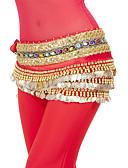halpa Tanssiasusteet-Vatsatanssi Lantiohuivit Naisten Kouluts / Suoritus Polyesteri Paljeteilla / Kolikot Luonnollinen Lantiohuivi vatsatanssiin