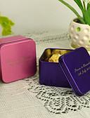 voordelige Bedankjeshouders-Gepersonaliseerde Cuboid voordeel tin - set van 12 (meer kleuren)