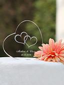 hesapli Nedime Elbiseleri-Pasta Üstü Figürler Bahçe Teması Klasik Tema Kalpler Klasik Çift Kristal Düğün Yıldönümü Çeyiz Görme ile Hediye Kutusu