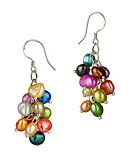 cheap Dress Watches-Pearl Drop Earrings - Classic Rainbow For Party