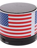 baratos Renda Romântica-S10 A bandeira dos EUA Mini Bluetooth Speaker com TF Porta para Telefone / Laptop / Tablet PC