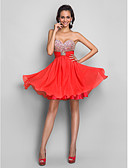 cheap Prom Dresses-A-Line Strapless / Sweetheart Neckline Short / Mini Chiffon Cocktail Party Dress with Beading / Sequin / Crystals by TS Couture®