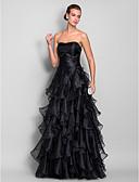 זול שמלות נשים-גזרת A לב (סוויטהארט) עד הריצפה אורגנזה נשף רקודים / ערב רישמי שמלה עם קפלים מדורגים / אסוף על ידי TS Couture®