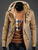 preiswerte Exotische Herrenunterwäsche-Männer Baumwoll Multi Pockets Schlank Stehkragen Outwear