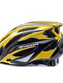 baratos Chapéus de Moda-MOON Adulto Capacete de bicicleta 25 Aberturas Resistente ao Impacto EPS, PC Esportes Ciclismo de Estrada / Ciclismo / Moto / Bicicleta De Montanha / BTT - Amarelo / preto Homens / Mulheres