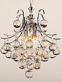 cheap Wedding Wraps-3-Light Mini Chandelier Downlight Chrome Metal Crystal 110-120V / 220-240V Bulb Not Included / E12 / E14 / VDE