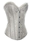 cheap Corsets-Women's Cotton / Satin Drawstring Corsets / Retro / Vintage - Jacquard / Vintage, Print