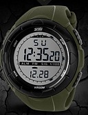 cheap Sport Watches-SKMEI Men's Sport Watch / Wrist Watch / Digital Watch Alarm / Calendar / date / day / Chronograph Rubber Band Fashion Black / Blue / Grey / Water Resistant / Water Proof / LCD / Two Years