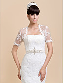 cheap Wedding Wraps-Short Sleeves Lace Wedding Party Evening Casual Wedding  Wraps Shrugs