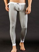 abordables Ropa Interior y Calcetines de Hombre-Hombre Súper Sexy Long Johns Un Color 1box