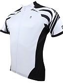 baratos Vestidos de Mulher-ILPALADINO Homens Manga Curta Camisa para Ciclismo - Branco Moto Camisa / Roupas Para Esporte, Secagem Rápida, Resistente Raios