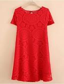 preiswerte Kleider-Damen Schick & Modern Etuikleid Kleid - Moderner Stil Reine Farbe, Solide Volltonfarbe Spitze Übers Knie