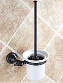 hesapli Gelin Şalları-Tuvalet Fırçası Tutacağı Çıkarılabilir Antik Pirinç Seramik 1 parça - Otel banyo