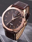 baratos Relógio Elegante-Homens Relógio de Pulso Calendário / Impermeável PU Banda Amuleto Preta / Marrom / SSUO LR626