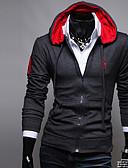 ieftine Îmbrăcăminte Bărbați de Exterior-Bărbați Clasic & Fără Vârstă Hodie & Hanorac - Stil Oficial, Culoare solidă
