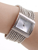 cheap Quartz Watches-Women's Ladies Luxury Watches Bracelet Watch Square Watch Japanese Quartz Copper Silver Casual Watch Analog Luxury Sparkle Fashion Elegant - Silver One Year Battery Life / Stainless Steel