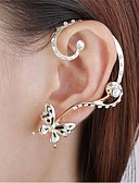 cheap Women's Hats-Women's Crystal Stud Earrings - Imitation Diamond Butterfly Animal Ladies Personalized Bridal Jewelry Golden For Wedding Party Daily