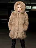 cheap Leggings-Women's Street chic Faux Fur Fur Coat - Solid Colored / Winter