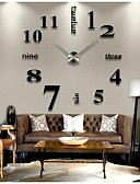 cheap Men's Hoodies & Sweatshirts-Wall Clock,Modern Contemporary Stainless Steel Round Indoor