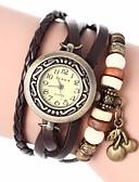 preiswerte Armband Uhr-Damen damas Uhr Armband-Uhr Quartz Gestepptes PU - Kunstleder Schwarz / Weiß / Blau Analog Böhmische Modisch Rot Grün Blau / Ein Jahr / Ein Jahr / Jinli 377