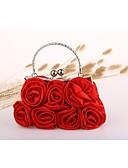 cheap Women's Headpieces-Women's Bags Nylon Evening Bag Flower Black / Red / Apricot