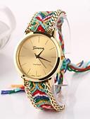 cheap Bracelet Watches-Women's Quartz Wrist Watch Hot Sale Fabric Band Bohemian Fashion Multi-Colored