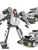 halpa Seksikäs elin-3 in 1 DIY rakennuspalikoita leluja koulutus tiilet mallin muunnos robotteja scout lapsille (91pcs)
