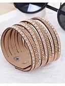 cheap Women's Hoodies & Sweatshirts-Women's Wrap Bracelet / Leather Bracelet - Resin, Imitation Diamond Unique Design, Fashion Bracelet Purple / Blue / Camel For Wedding / Party / Daily
