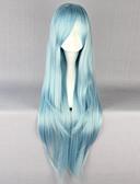 preiswerte Krawatten & Fliegen-Synthetische Perücken Damen Glatt Blau Stufenhaarschnitt Synthetische Haare 30 Zoll Natürlicher Haaransatz Blau Perücke Lang Kappenlos Himmelblau