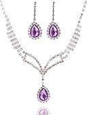 ieftine Quartz-Pentru femei Argintiu Roșu Perle Set bijuterii - Include Argintiu / Rosu / Bleumarin Pentru Nuntă Petrecere Ocazie specială / Aniversare / Zi de Naștere / Logodnă / Cadou