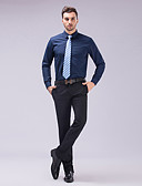 cheap Wedding Dresses-Men's Stylish / Classical / Basic Slim Fit Shirt - Solid Colored