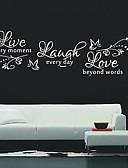 halpa Päähineet-Eläimet Muoti Words & Quotes Wall Tarrat Words & Quotes Wall Stickers Koriste-seinätarrat, Vinyyli Kodinsisustus Seinätarra Seinä