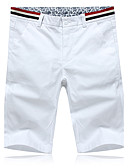 cheap Men's Shirts-Men's Chic & Modern Shorts Pants - Solid Colored Modern Style White / Summer / Work