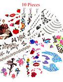 hesapli Kadın Tulumları-10 pcs Dövme Etiketleri geçici Dövme Hayvan Serileri / Çiçek Serisi Su Geçirmez / Non Toxic body Art / Temalı / Waterproof