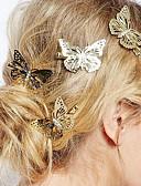 halpa Morsiusneitojen mekot-Naisten Tyylikäs Hiusklipsu Kukka Metalliseos
