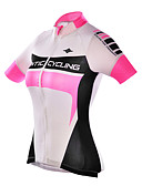 cheap Evening Dresses-SANTIC Women's Short Sleeve Cycling Jersey - Pink Bike Jersey, Ultraviolet Resistant, Breathable Polyester