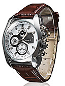 cheap Quartz Watches-Men's Wrist Watch Casual Watch PU Band Casual Black / Brown
