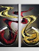 olcso Dresses For Date-Hang festett olajfestmény Kézzel festett - Csendélet Modern Tartalmazza belső keret / Nyújtott vászon