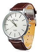 abordables Relojes de Hombre-Hombre Reloj de Pulsera Japonés Reloj Casual PU Banda Casual / Minimalista Negro / Blanco / Rojo / SSUO SR626SW