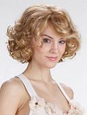 preiswerte Abendkleider-Synthetische Perücken Locken Stil Stufenhaarschnitt Kappenlos Perücke Blond Blondine Synthetische Haare Damen Natürlicher Haaransatz Blond Perücke Kurz Natürliche Perücke