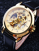 cheap Mechanical Watches-Men's Wrist Watch / Mechanical Watch Water Resistant / Water Proof / Hollow Engraving Leather Band Luxury Black / Automatic self-winding
