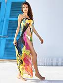 abordables Vestidos de cóctel-Mujer Tapadera - Estampado, Arco iris Sin Tirantes