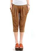 baratos Calças Femininas-Mulheres Chique & Moderno Harém Jeans Calças - Sólido