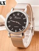 baratos Relógios da Moda-Mulheres Relógio de Pulso Quartzo Venda imperdível Lega Banda Analógico Amuleto Fashion Prata - Branco Preto