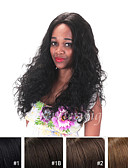 billige Herregensere og -cardigans-Ekte hår Blonde Forside Parykk Krøllet Parykk 130% Naturlig hårlinje / Afroamerikansk parykk / 100 % håndknyttet Dame Kort / Medium / Lang Blondeparykker med menneskehår