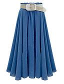 זול חצאיות לנשים-קפלים אחיד - חצאיות כותנה נדנדה סגנון רחוב בגדי ריקוד נשים
